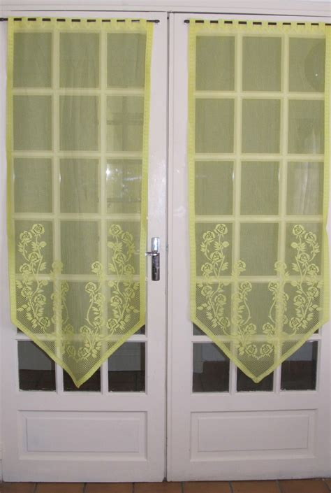 sheer curtains for french doors lemon french door lace curtains yellow sheer floral panels