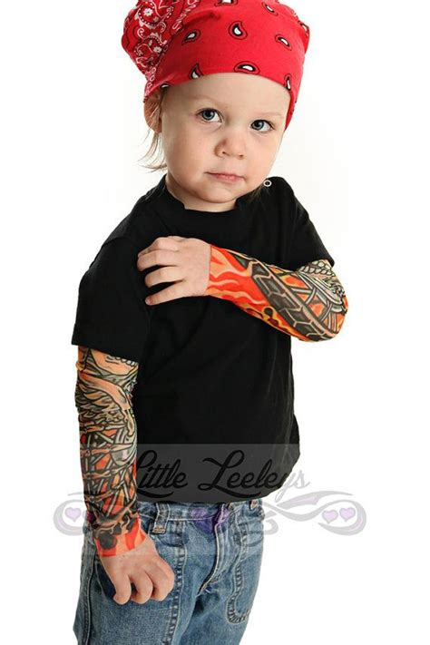 tattoo sleeve shirts sleeve biker black t shirt for babies and toddlers