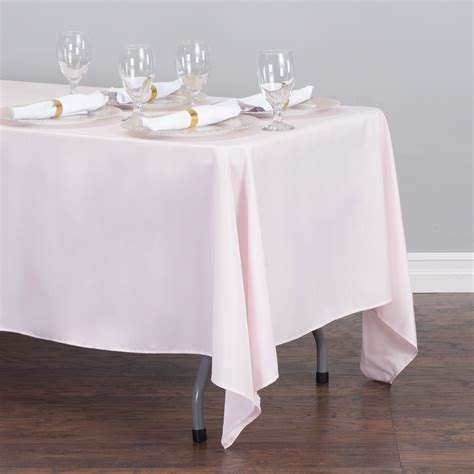 light pink 120 tablecloth 70 x 120 in rectangular polyester tablecloth light pink