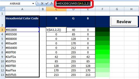 how to color code in excel yours non technically convert hexadecimal to rgb color