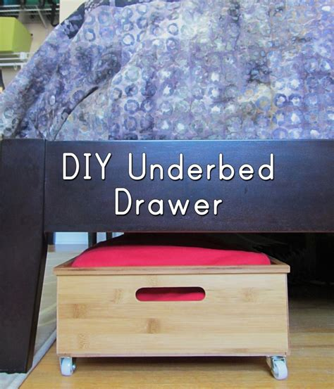 diy under bed drawers under bed storage diy underbed drawers
