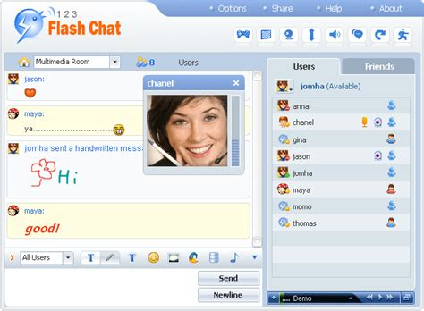 Chat Free Rooms by 123 Flash Chat Server By Daniel Jiang A Realtime Text