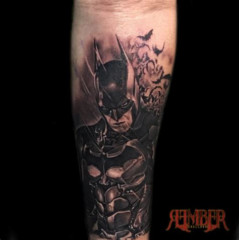 black grey tribal tattoos batman in black and grey by rember tattoos