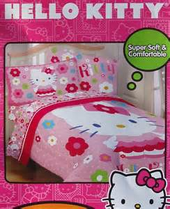 hello kitty twin bed set hello kitty daisy floral pink twin comforter sheets 4pc