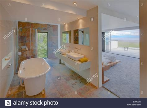 Modern Ensuite Bathrooms by Modern Ensuite Bathroom Separated From Bedroom By