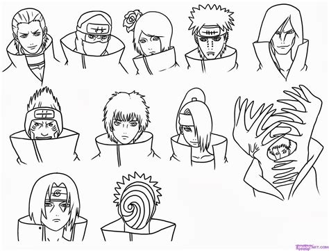 naruto coloring pages akatsuki akatsuki coloring pictures