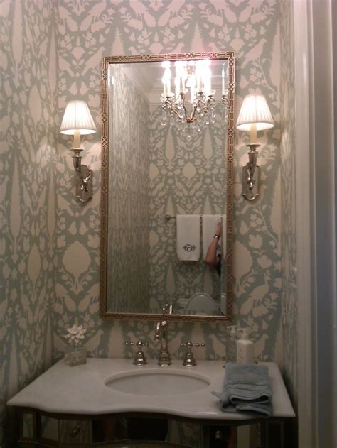 powder rooms with wallpaper powder room bathrooms pinterest powder room