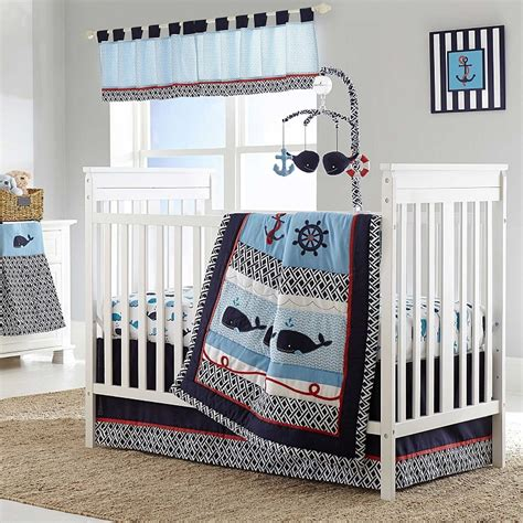 Nautica Kids Whale Of A Tale 4 Piece Crib Bedding Set Tale Crib Bedding