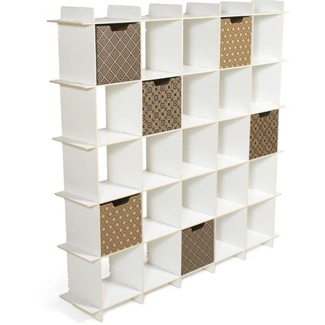 white 25 cube modern storage bookcase