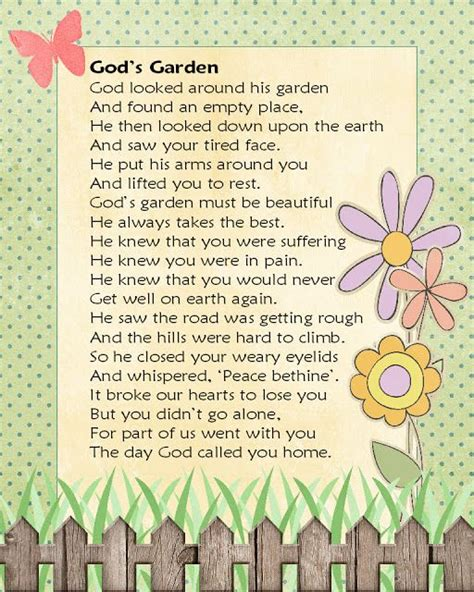 Garden Sayings For Funerals The World S Catalog Of Ideas