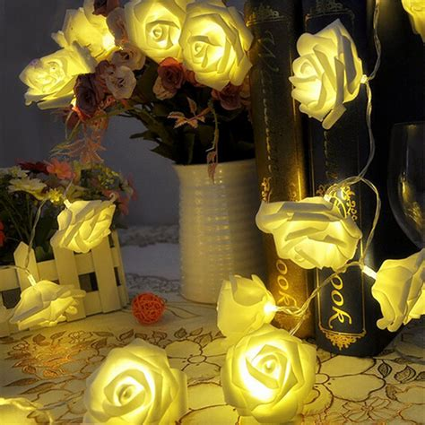 Led Roses Lights Up Mothers Day by 20 Led 2m Battery String New Year Garlands