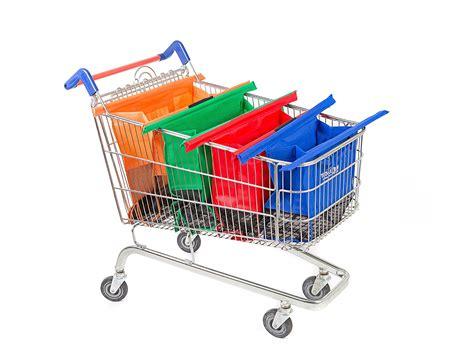 Trolley Eco Bag 1pcs reusable oxford fabric shopping bag on wheels bags