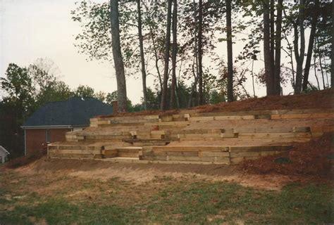 Landscape Timber Michigan Timber Retaining Wall Designs Fabulous Drawing Landscape