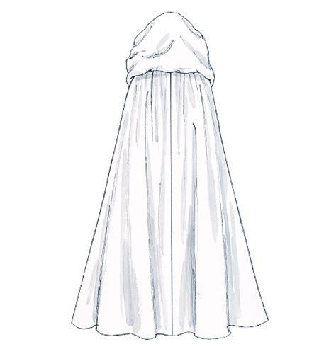 pattern for dress up cape capulet costume hooded cloak cape pattern sm med