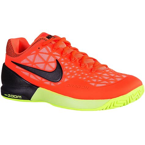 nike zoom cage 2 s tennis shoe orange black