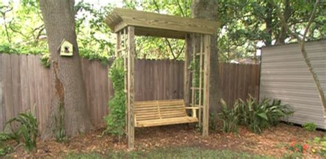 how to make a backyard swing how to build a backyard arbor swing today s homeowner