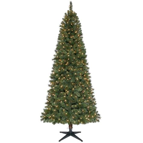 what artificial pre lit chridtmas are at home depot home accents ornaments decor 7 5 ft wesley mixed spruce set slim