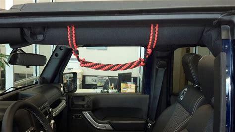 Diy Jeep Grab Handles Paracord Jeep Grab Handles Diy Jeeps And