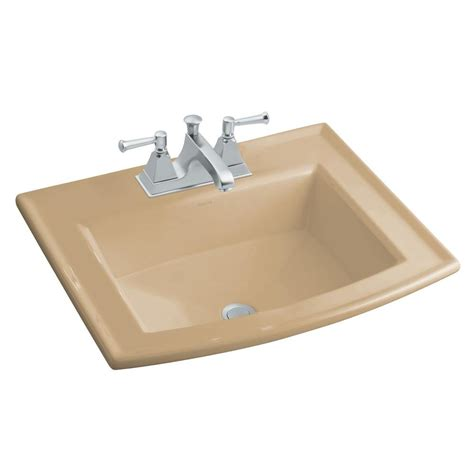 kohler drop in sinks kohler archer drop in vitreous china bathroom in