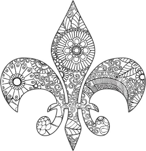 items similar to fleur de lis coloring page on etsy