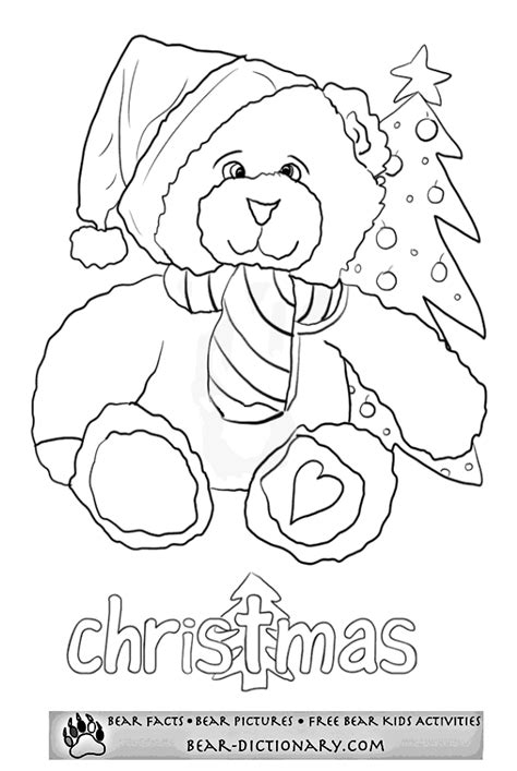 christmas coloring pages teddy bear merry christmas bears coloring sheet toby s bear christmas
