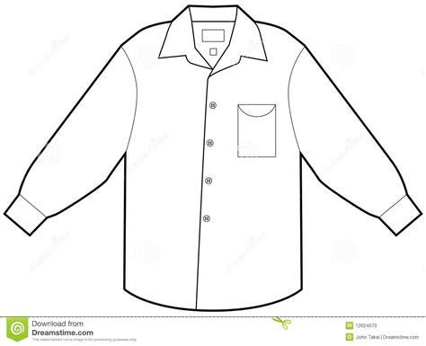 shirt pattern clip art business dress shirt stock vector illustration of button