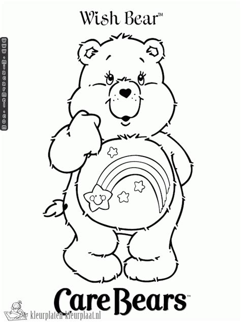 wish bear coloring pages wish bear care bear coloring pages coloring pages