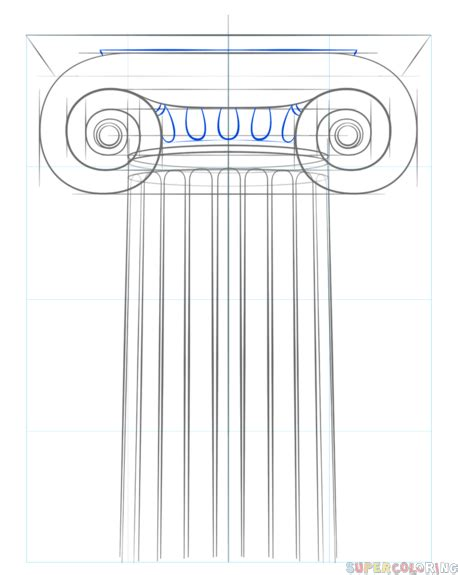 tutorial for ionic how to draw the ionic column step by step drawing tutorials