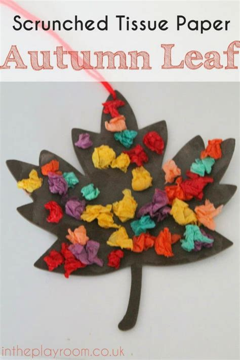Tissue Paper Leaf Craft - create these easy tissue paper crafts and with
