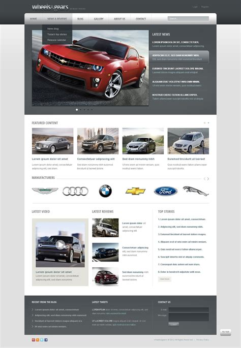 drupal themes zip wheels tires drupal template 39996