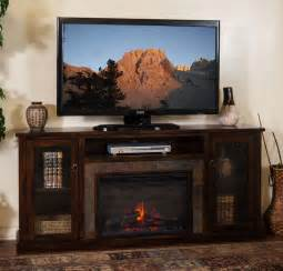 70 Tv Stand With Fireplace by Sd 3488dc 70r 70 Quot Santa Fe Rustic Birch Fireplace Tv Stand