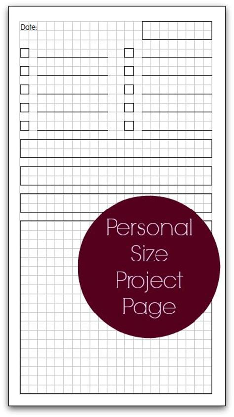 free printable planner pages personal size 107 best images about personal size planners on pinterest