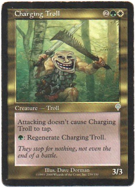 Magic Card Meme - quot charging troll quot by nicolarre