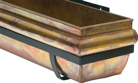 copper window boxes planters rustic copper window box 48 quot traditional outdoor pots