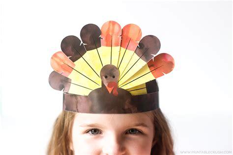 printable turkey crown free printable thanksgiving turkey crowns printable crush