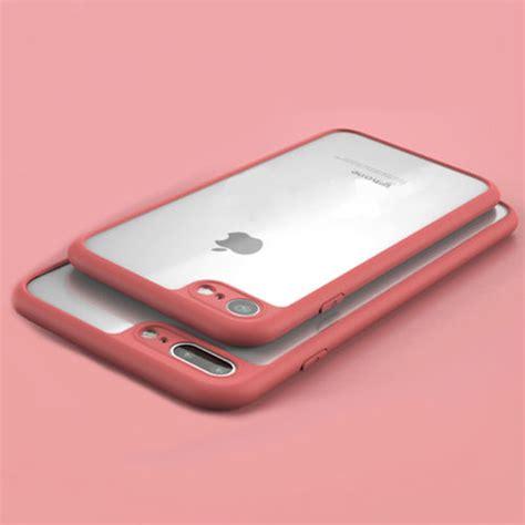 Tuto Design Bumper Softcase Iphone 7 Plus ultra slim soft tpu bumper clear pc back cover for