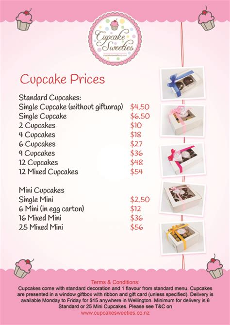 cup price our cupcake gift box price list cake decorating