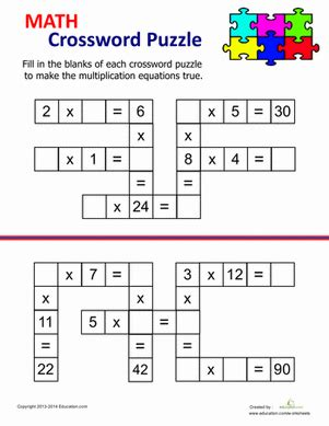 search results for multiplication crossword puzzle grade