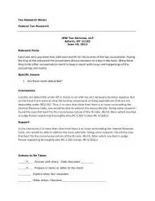 9 best images of client memo sle tax memo format