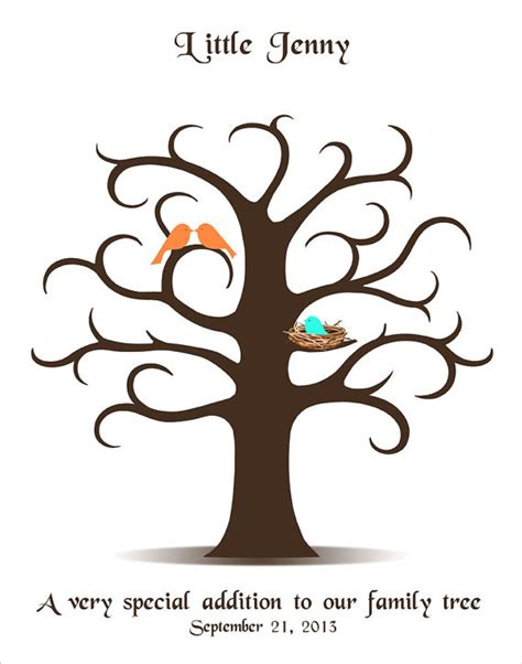 Baby Shower Thumbprint Tree Template by Baby Shower Fingerprint Tree Template Just B Cause