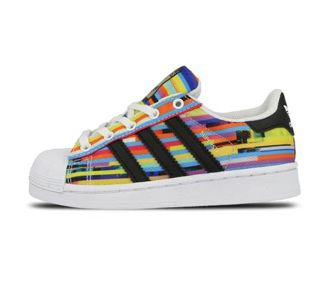 adidas superstar rainbow coloured trainers shoes ebay