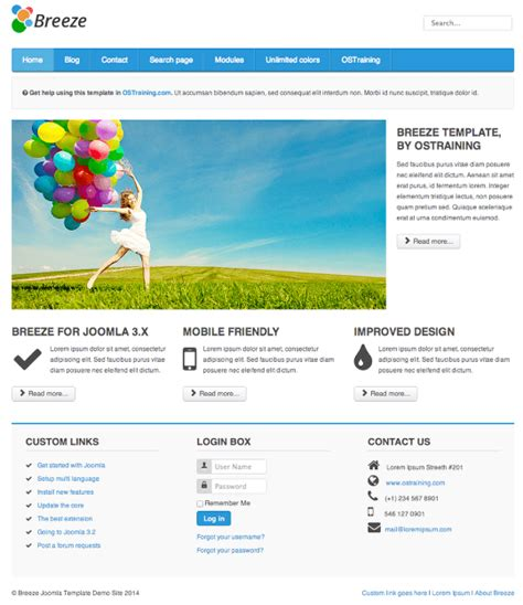 template joomla protostar breeze an updated free joomla template
