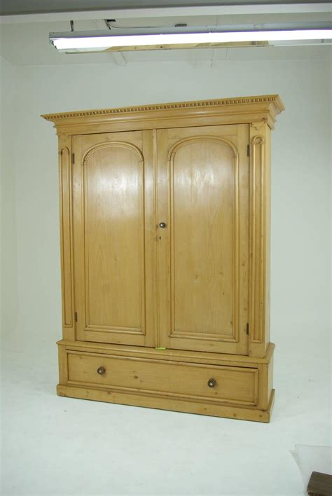 linen armoire storage b281 large pine two door armoire wardrobe display pantry