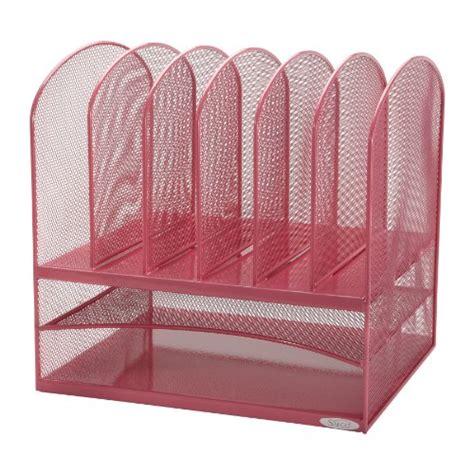 Upright Desk Organizer Safco Products Onyx Mesh Desk Organizer 2 Horizontal And 6 Upright Sections Pink 5903pi Best
