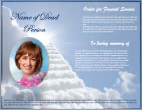 funeral brochure template format amp template