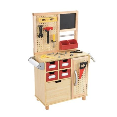 toy wooden tool bench one step ahead kid s toy wooden tool work bench kid