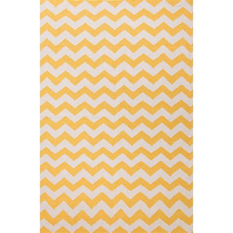 Yellow Area Rug 5x8 Flatweave Chevrons Pattern Yellow Ivory Wool Area Rug 5x8 Walmart