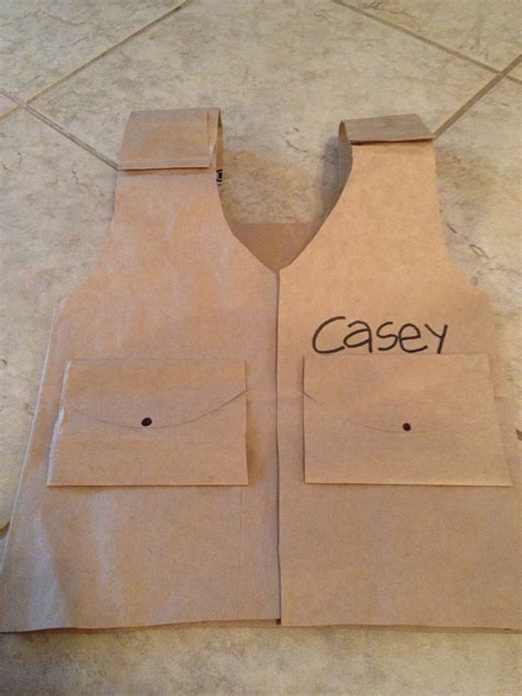 How To Make A Paper Bag Vest - diy child safari vest temple adventure