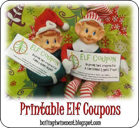printable elf on the shelf coupons bailing twine bubble gum nest elf coupons free printable