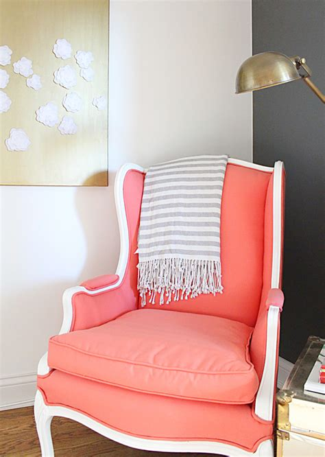 Coral Colored Armchair Armchair Before After Jess Lively